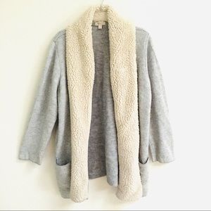 Style & Co. faux Sherpa front cardigan 1X